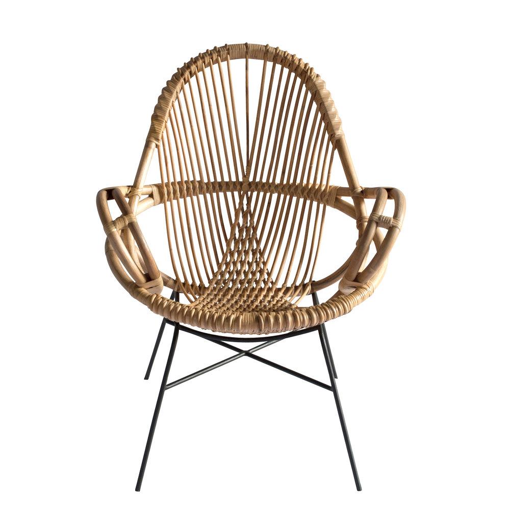Diamond Rattan Chair