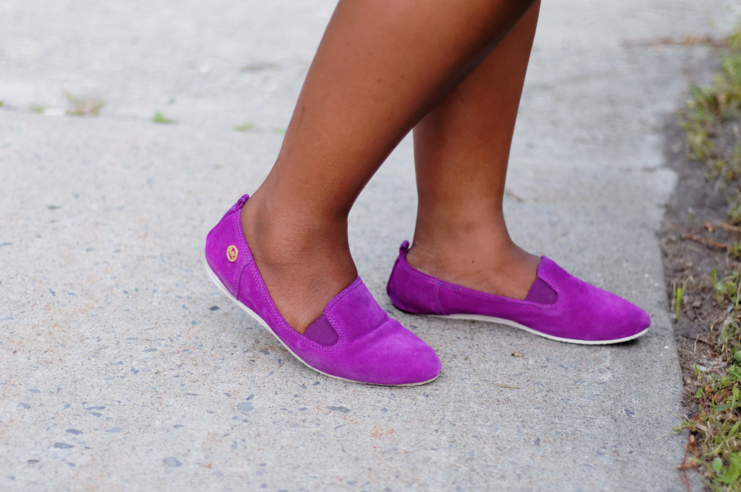 Michael Kors Purple Loafers