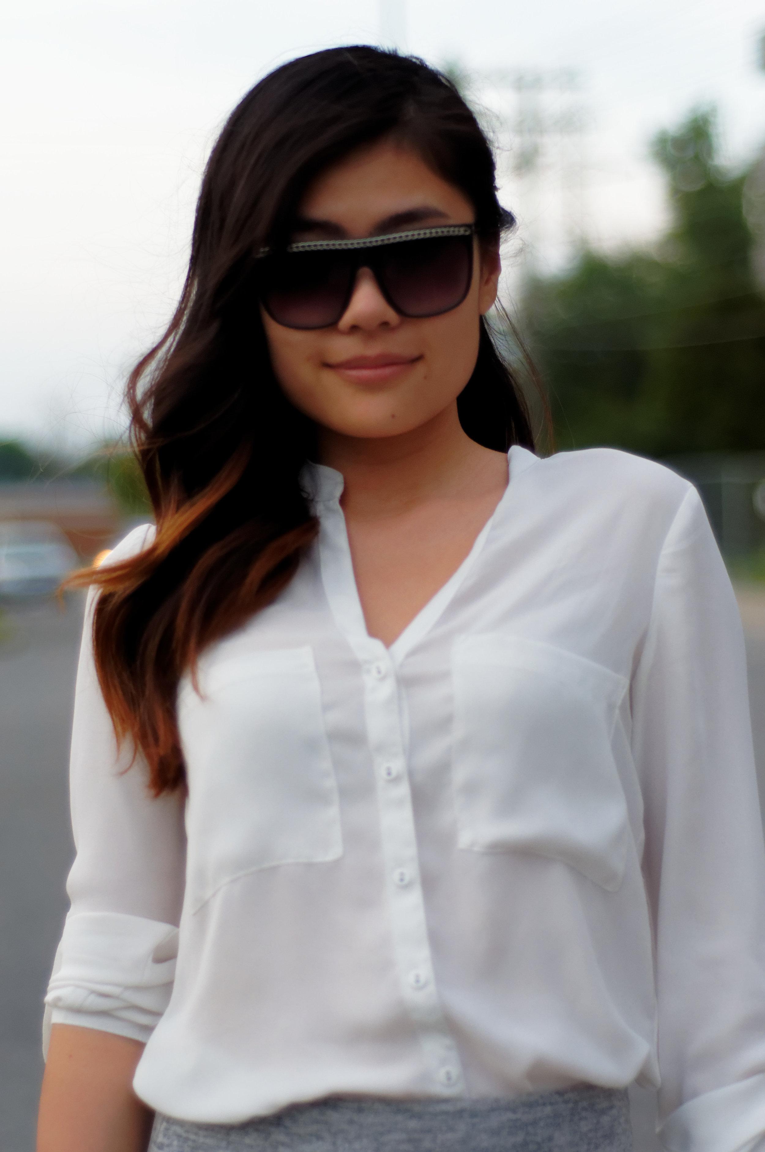chiffon white shirt