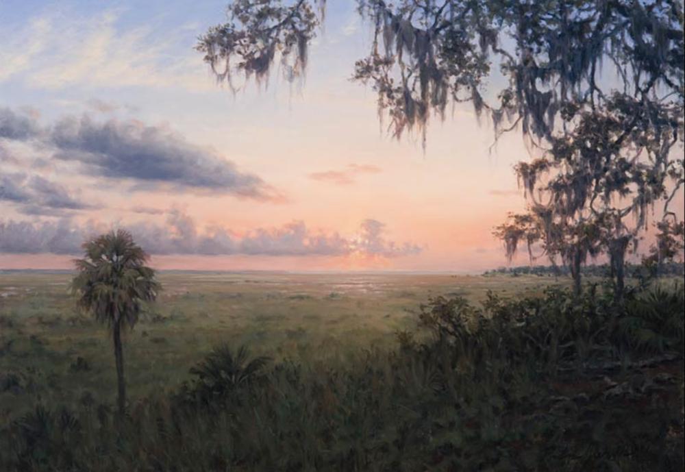 """Alachua Savanna  c. 1774 Alachua County, Florida March 2010 Oil on canvas 18"""" x 26"""""""