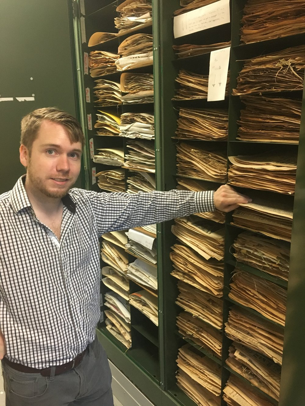 APSU Herbarium Collections Manager and SGI Research Associate, Mason Brock, shows off the collections in the APSU Herbarium.