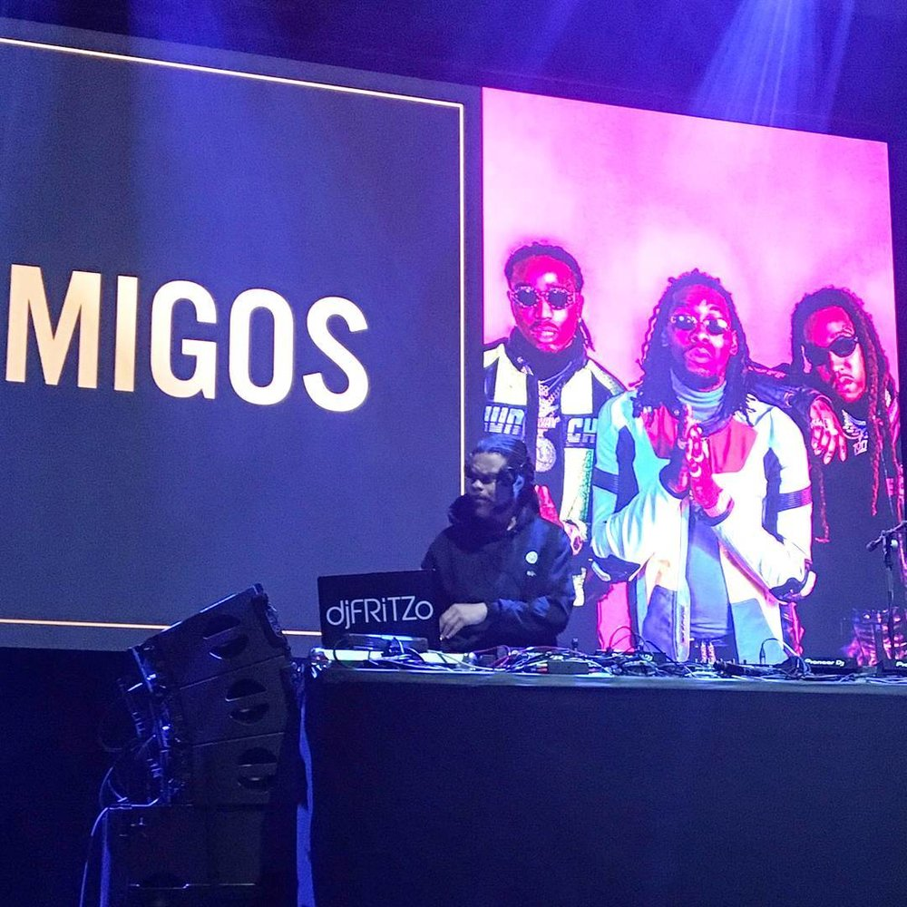 djFRITZO OPENS UP FOR MIGOS AT THE 2018 ROLLING STONE SUPERBOWL PARTY in MINNEAPOLIS