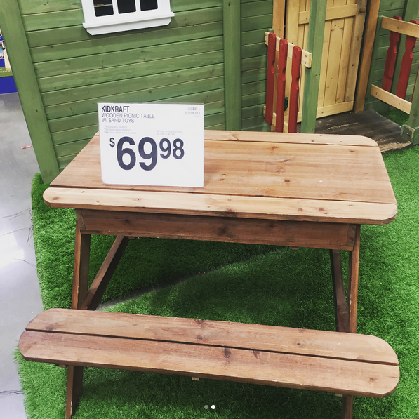 Samu0027s Club is also selling an adorable wooden picnic table for kids as well! You get the table WITH sand toys for only $69.98. I honestly wish they made the ... & Kids Patio Furniture u2014 Samu0027s Simple Savings
