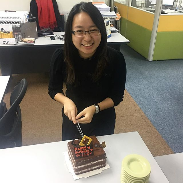 We have an early Santa baby in the office! Happy birthday to one of our GO-Getters, Yih Ling! 🎂
