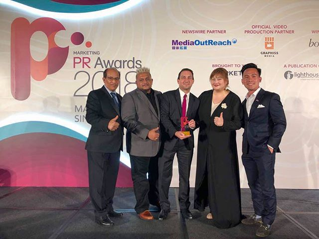 GOAL! Our GO Communications initiative, @milliondollarfeet, wins gold at Marketing Interactive's awards night being held in Singapore as South-East Asia's Best Sports PR Campaign! #onthego #goforgold #pr #agencylife #marketing #digitalmarketing