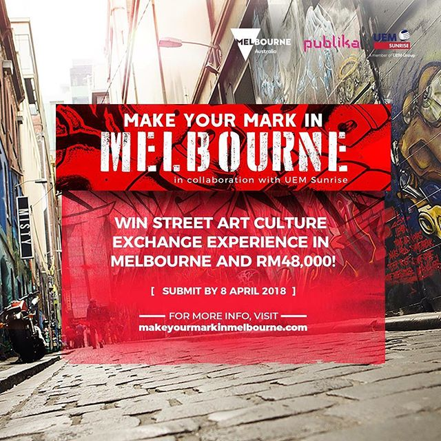 Are you an artist looking to make your mark internationally? Our client, Visit Victoria, is looking for Malaysia's top street artists! Win a chance to #MakeYourMarkInMelbourne by heading to www.makeyourmarkinmelbourne.com today! Submissions are now open, so it's time to unleash your creativity! #VisitMelbourne
