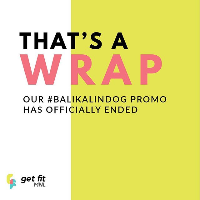 Huge thanks to everyone who joined our #BalikAlindog Fitness Starter Pack Giveaway! 🙌🏼 We've read so many great ideas you have on how to spice up your workour routine this 2018. We'll be announcing our winners by the end of the week, so stay tuned 😉 . . . #getfitmnl #BalikAlindog