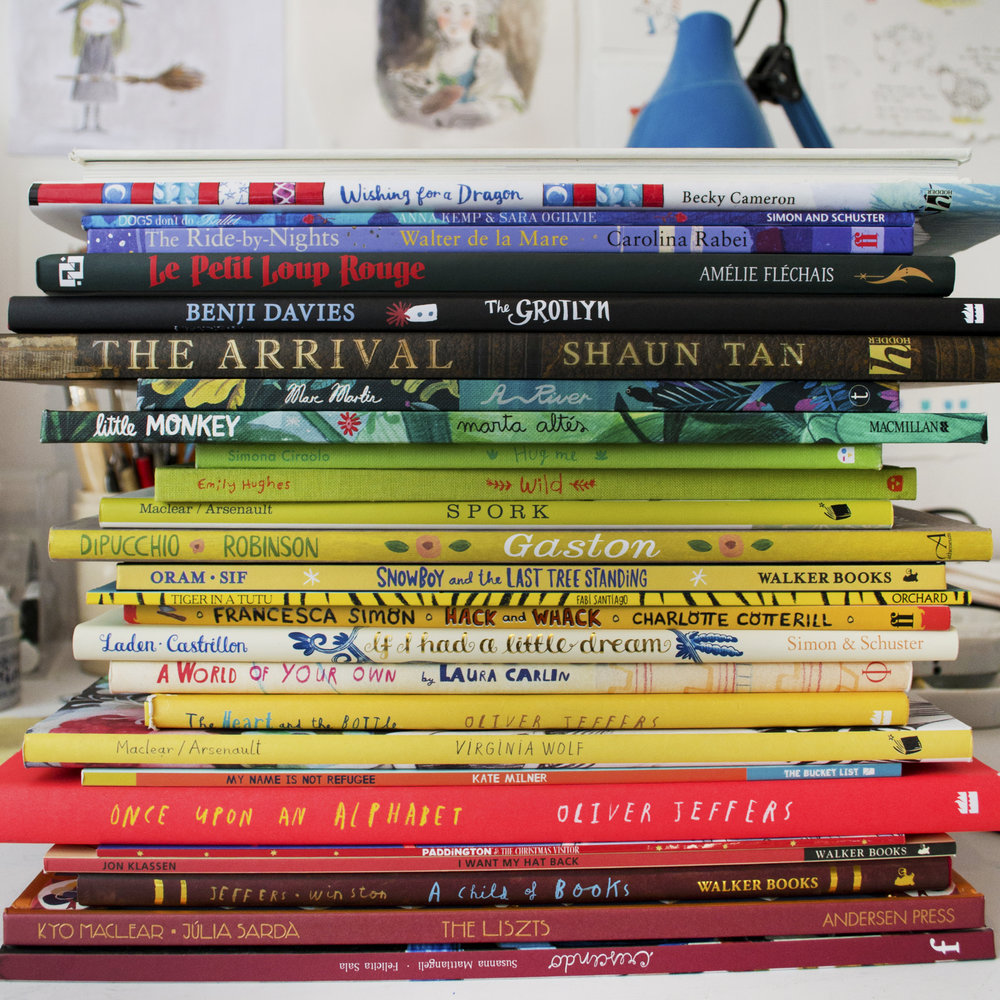 1:00 pm - I LOVE picture books, they are a constant source of inspiration to me. I'm lucky enough to be friends with some very talented illustrators (Some of their books are in this picture along with a few of my all time favourite kid lit artists) ⠀⠀…If you look closely you'll also find the proof of my debut author illustrated book which is out next year :) *shameless self promotion*