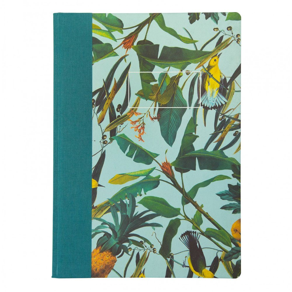 ARDEN ROSE TROPICAL BIRDS A4 QUARTERBOUND NOTEBOOK - Alternating plain and lined pages create a versatile environment for your note taking / doodling. Made in the UK too! Simple, stylish and easy to gift!