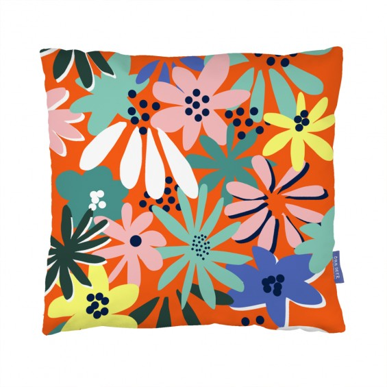 Autumn Florals Cushion  by KMARIE