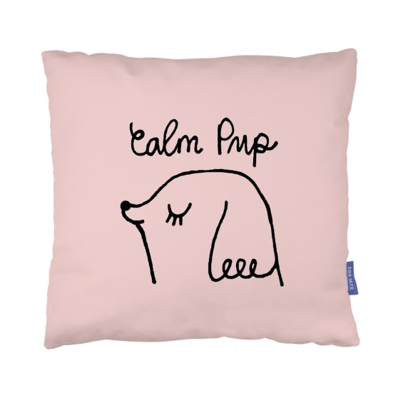 Calm Pup Cushion  by Suzi Kemp
