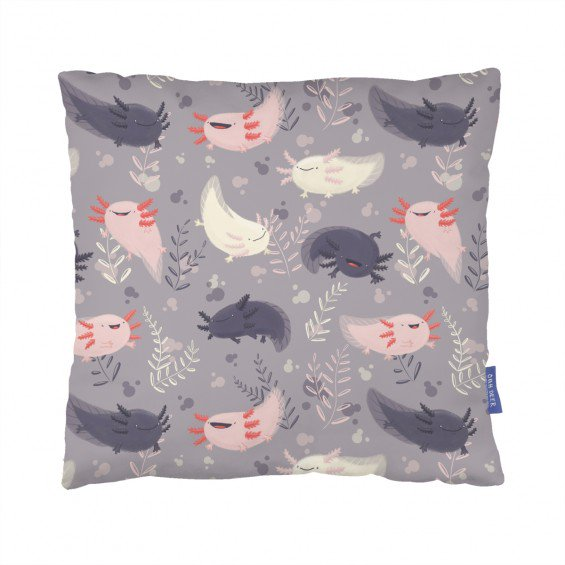 Fatsolotls Cushion  by Emseeitch