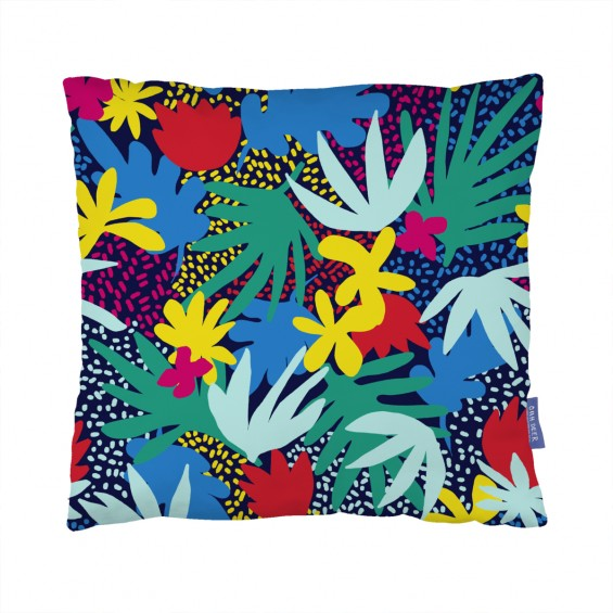 Jungle Flowers Cushion  by Yazooky
