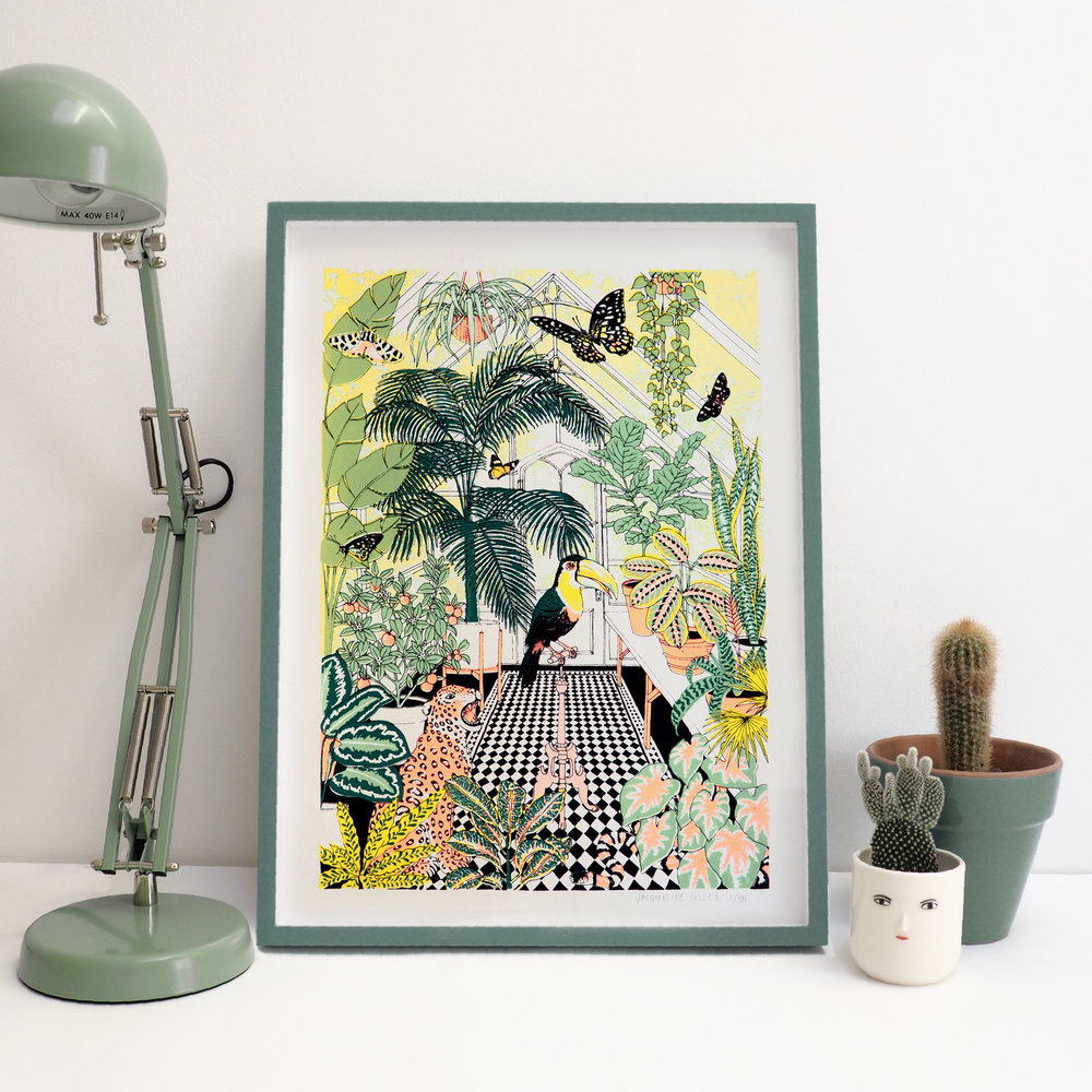 Framed-Greenhouse-Jungle-Screenprint-1.jpg