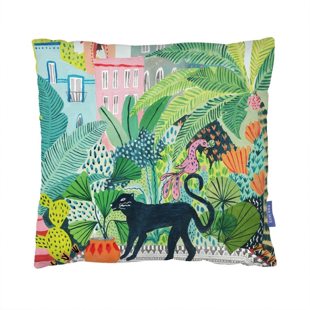 Jungle Panther Cushion - Is your mum one of those types that loves a decorative pillow? To the point where you can't even sit on the sofa because of them? Add to her obsession with this bright addition!