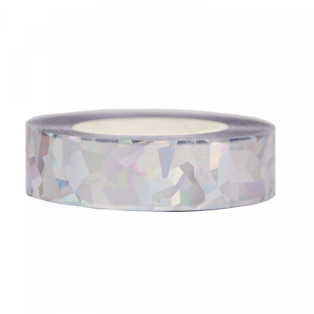 Sparkly Silver Mylar Tape - Your mum is a diamond, so why shouldn't her presents be? Throw out the cello, this shiny stuff is in town!