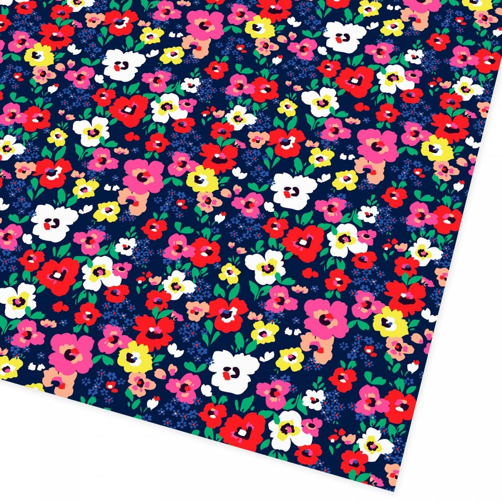 Bold Floral Giftwrap - A classic mum needs a classic wrap. With pinks, yellows and reds, this is a pop of spring!