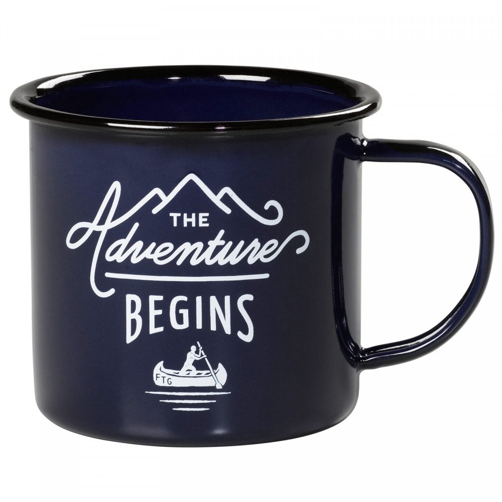 BLUE ENAMEL MUG - Just a nice way of saying,
