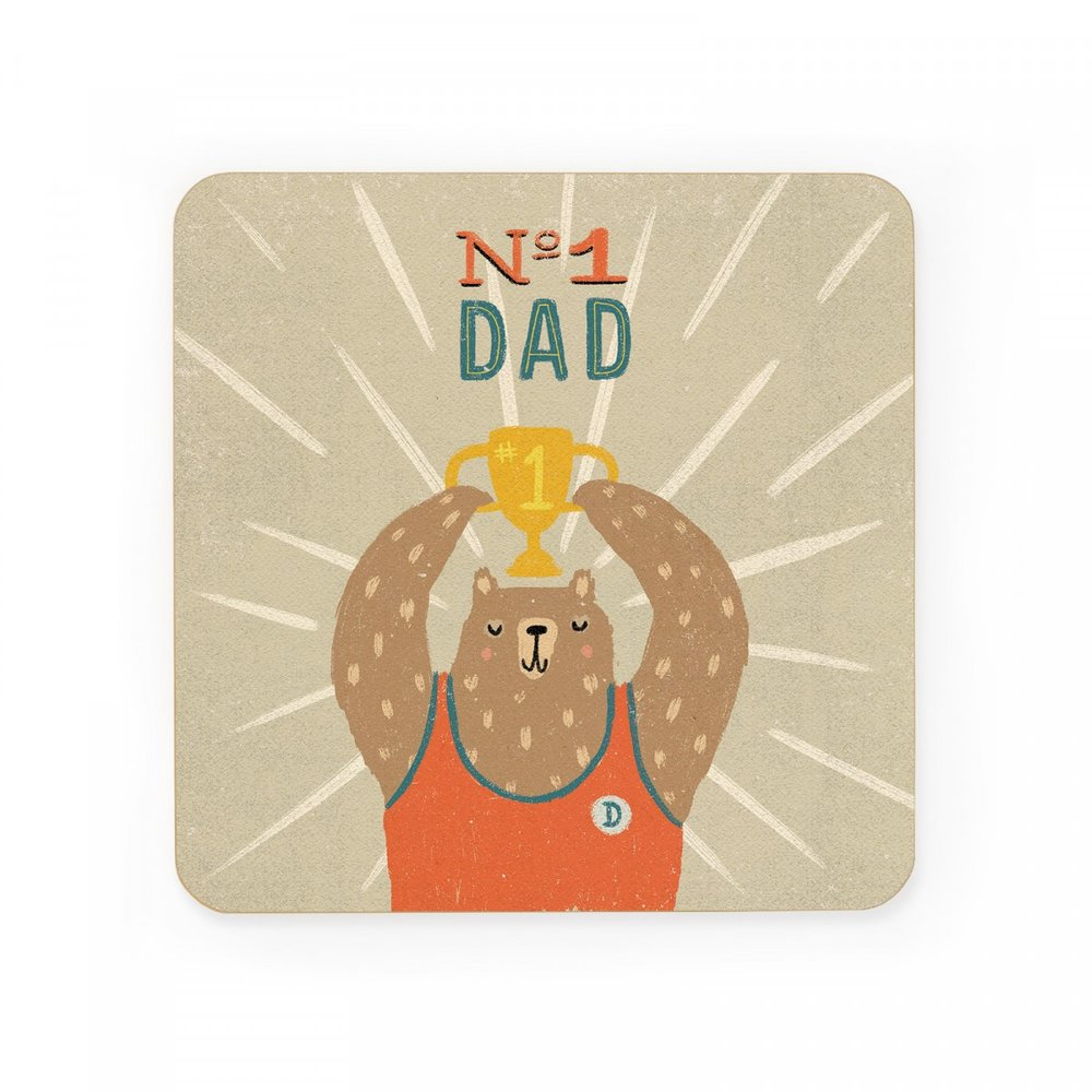 NO. 1 DAD COASTER - Maybe he didn't get first place, but that's okay as he will always be your number 1. Number one at annoying the crap out of you.