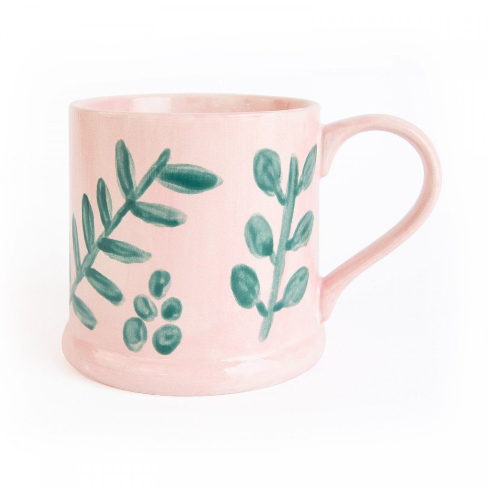 Mug hand-painted by Chloe Hall for the Marzia x Ohh Deer range