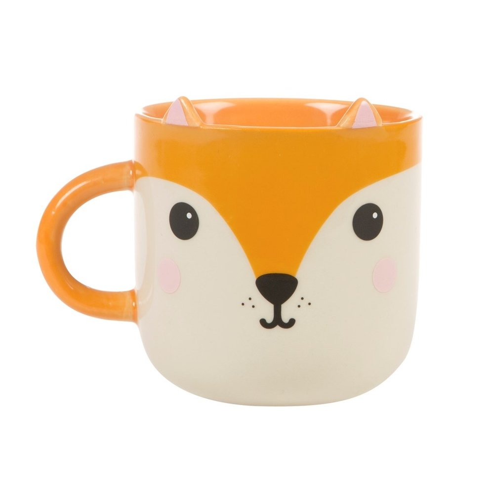 Hiro Fox Kawaii Friends Mug - Inspired by quirky and cute designs that derive from Japanese pop culture, check out this adorable Hiro fox mug! With a sweet face and matching ears, this characterful chap comes adorned to a generously sized mug. A stylish and quirky kitchen accessory.