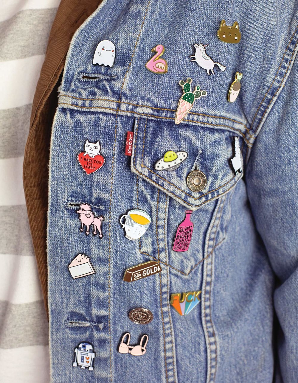 THE PIN - Mum got a jacket that needs snazzing up? Or maybe a bag that isn't all that jazzy? Why not have a browse of some pins that will spice up her life. And her coat.