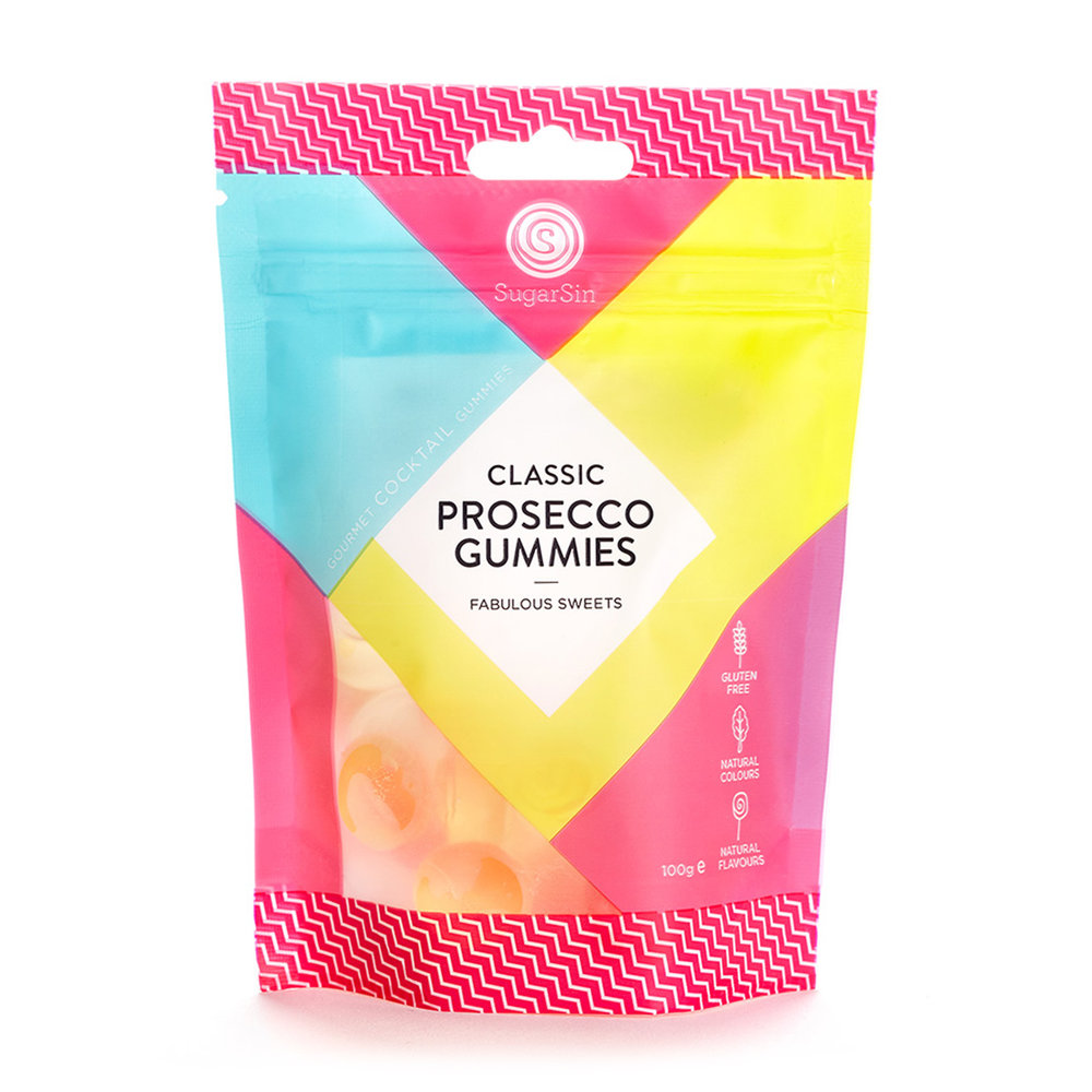 CLASSIC PROSECCO GUMMIES - If your mum likes a tipple and a treat then these delights from Sugar Sin are sure to go down well! These gummies are made with real prosecco and are full of flavour!
