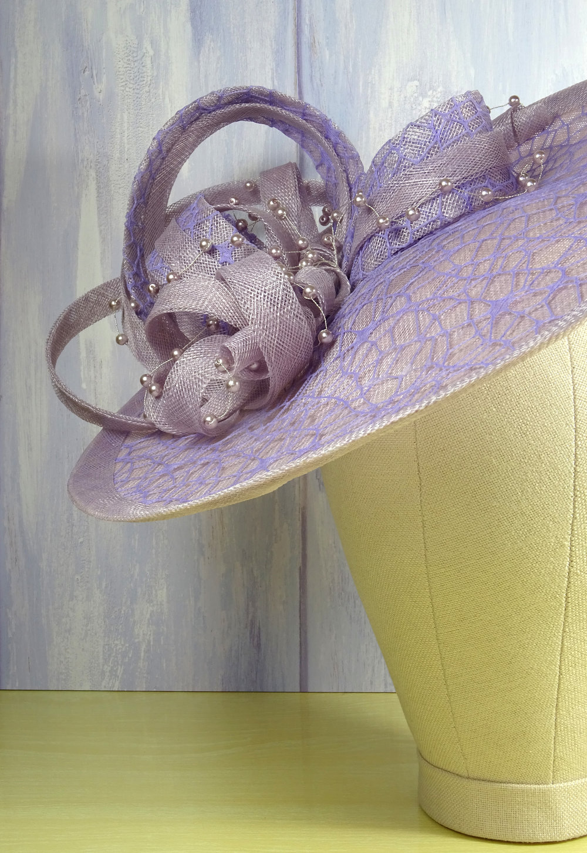 mother of the bride wedding hats lilac designer hat