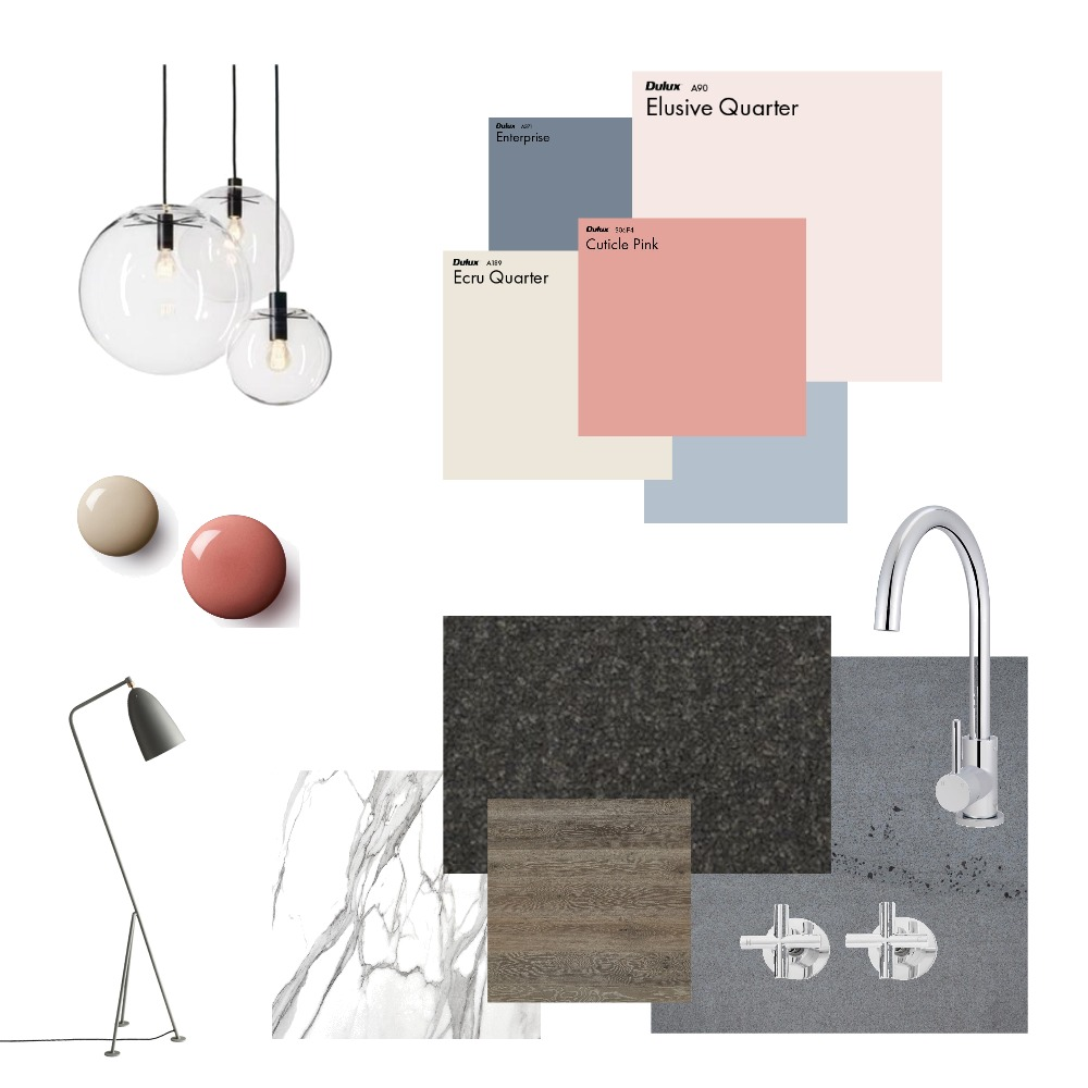 This mood board was created using Style Sourcebook.