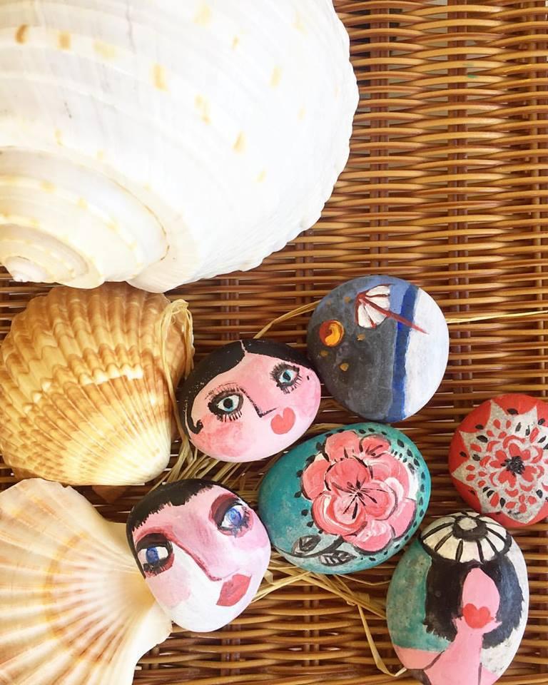 Stones for practicing healing arts