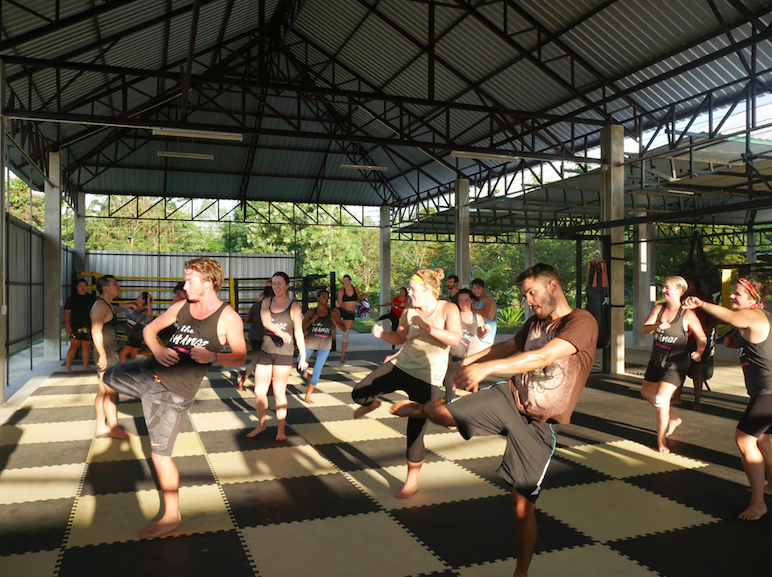 Our SE Asia tribe testing their physical and mental limits at our fitness bootcamp in Chiang Mai.