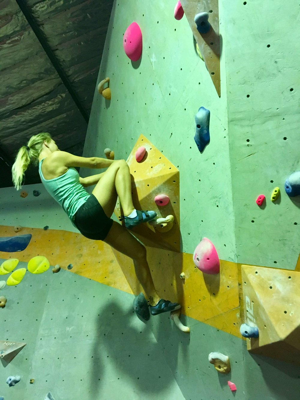 Rock climbing is one of those sports where it really is YOU versus YOURSELF. It pushes you and makes you stop thinking about getting approval for others.
