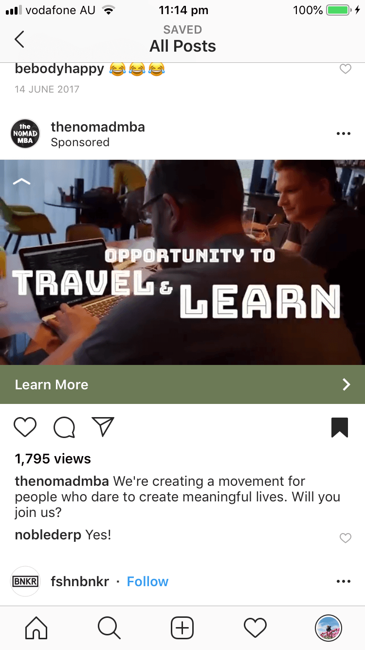 I still have that exact ad saved on my Instagram from when I first saw it.