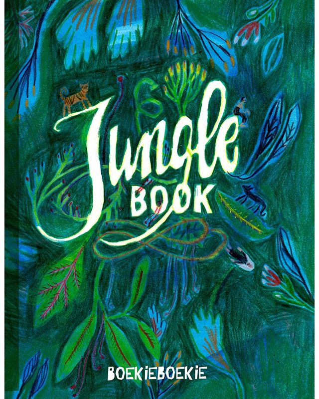 Cover sketchbook #boekieboekie #illustration #jungle #junglebook #pattern #handwriting