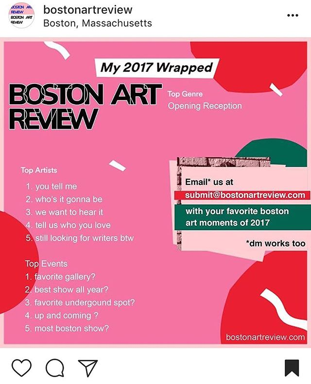 Hey everyone! If Fort Five was something you enjoyed, write to our friends @bostonartreview to let em know!!