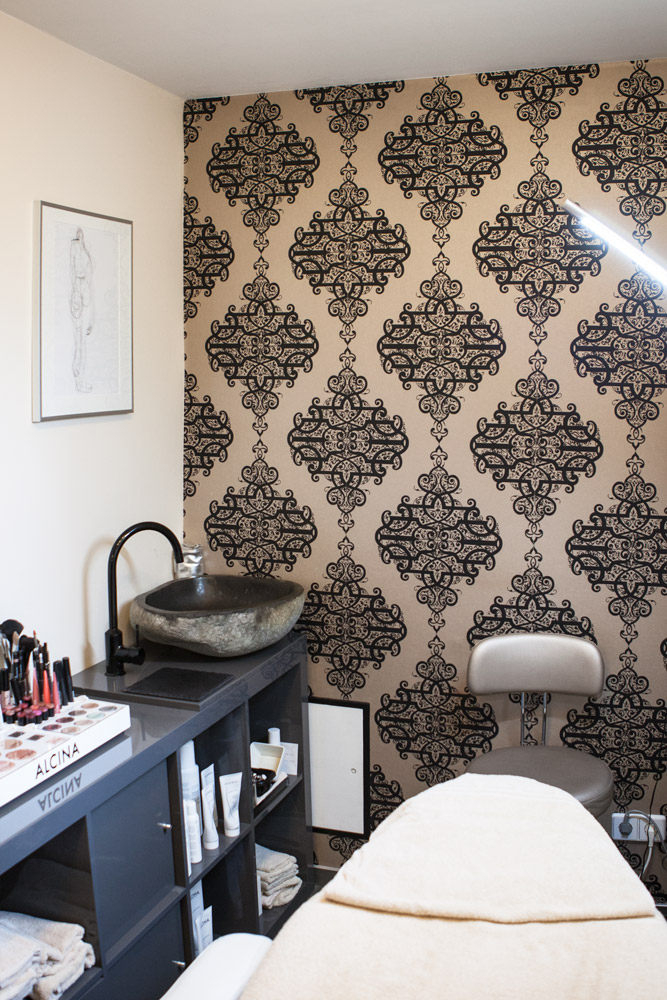 Blick in einen unserer Kosmetik-Behandlungsräume