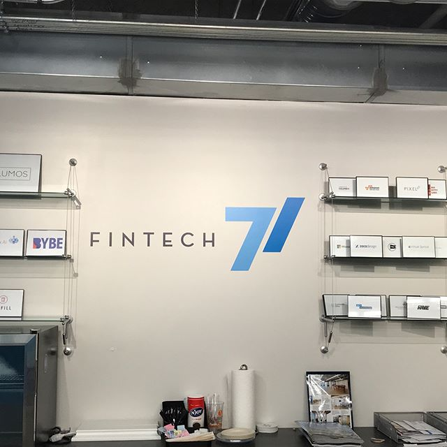 Enjoyed stopping by @fintech71 yesterday to connect.  @mattarmstead and the team have great stuff going on!