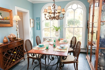 The light-filled kitchen boasts two windows Patty bought years ago from former employer ABC Carpet & Home.