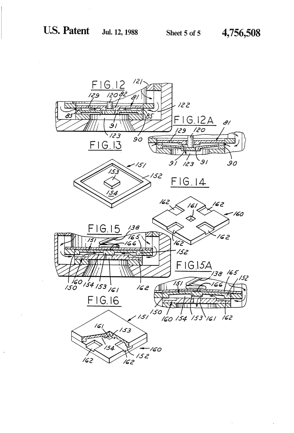 """Silicon Valve""   Patent number 4,756,508      Filing date: Nov 13,1986, Issue date: Jul 12, 1988 Inventors Joseph M. Giachino, James W. Kress"