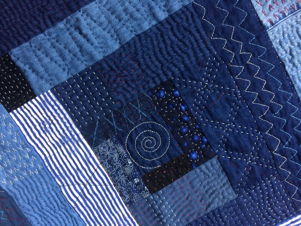 Indigo playmat for new baby