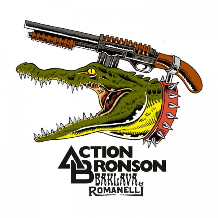 """One of the designs for official tees by """"Baklava Romanelli"""" in collaboration with Action Bronson"""