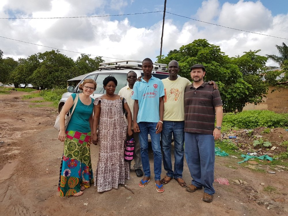 Joel McMartin (right), in Africa, leads a team in people group assessment.