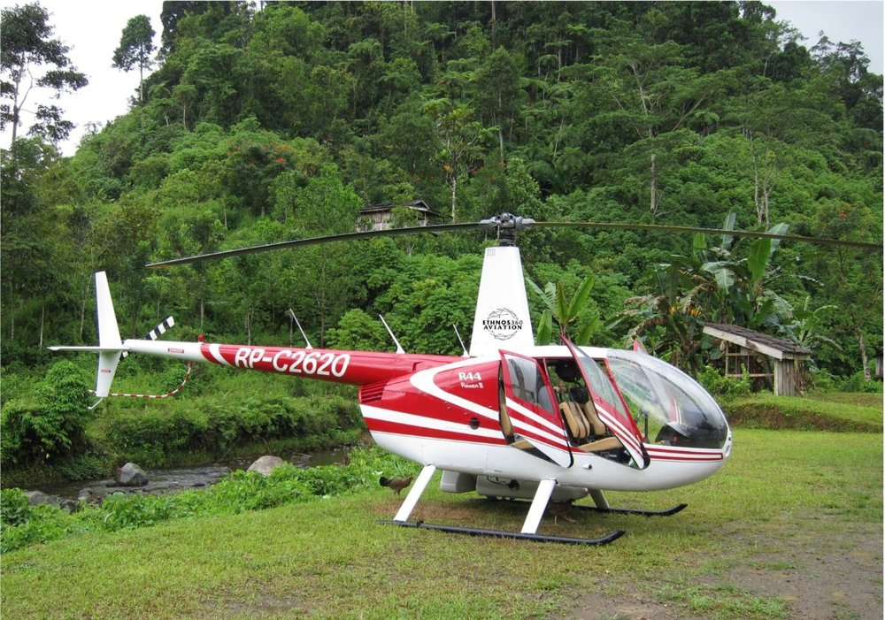Helicopter at Outreach Landing Site