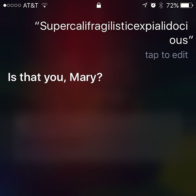 I spend way too much time talking to Siri haha #marypoppins