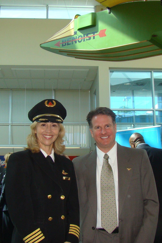 Captain Christina Halli & Robert Bohan @ PIE Press Conference, 24 Apr '13.JPG