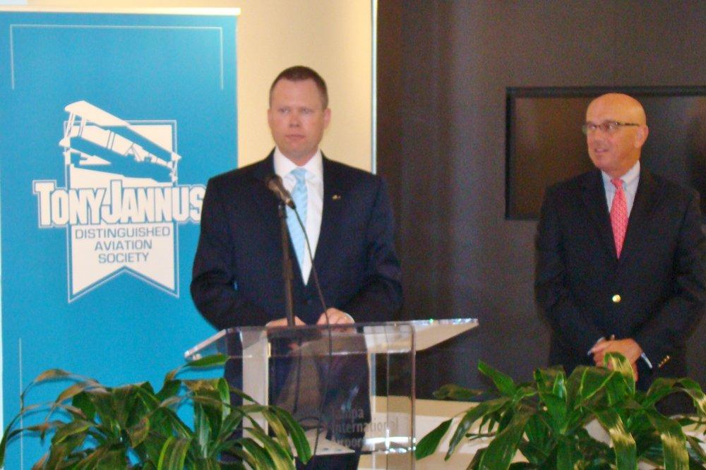 Chris MInner & Joe Lopano at Press Conference, 21 May '14.JPG