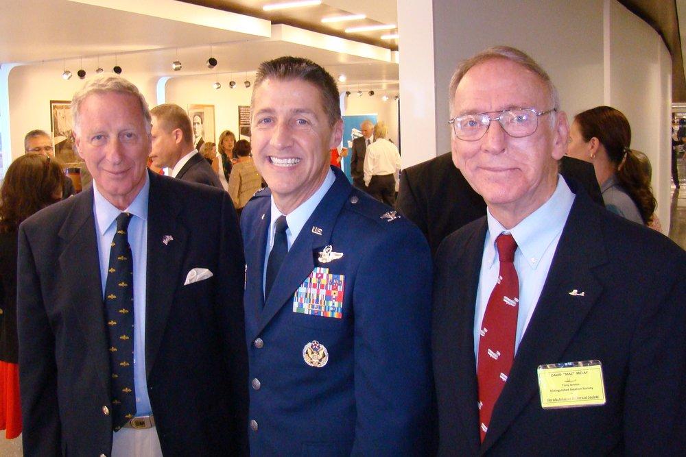 Colin Howgill, Scott DeThomas & David McLay at Press Conference, 21  May '14.JPG