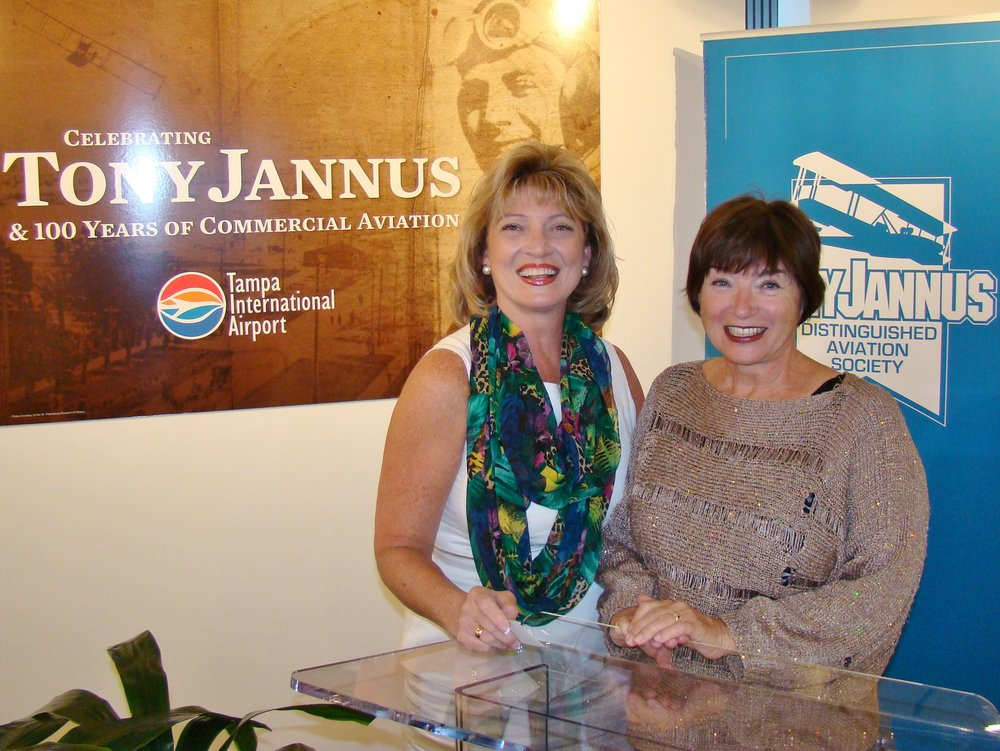 Colleen Picard & Anne Menke at Press Conference - 1, 21 May '14.JPG
