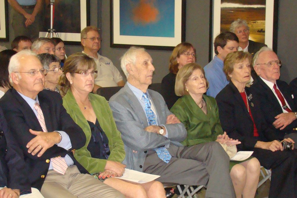 Bill Krusen & Family with Dr. Warren Brown during Introduction, 28 Jan '12.JPG
