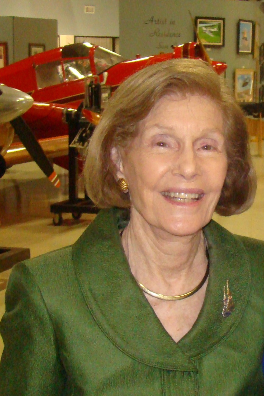 Dottie Krusen after FAHOF Induction Ceremony, 28 Jan '12.JPG